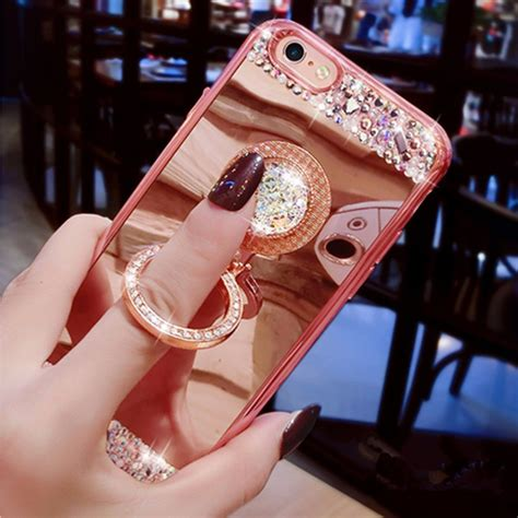 Softcase Luxury List Chrome Plus Ring Stand Samsung J5 Prime aliexpress buy for iphone 7 luxury glitter mirror cover with 360 phone