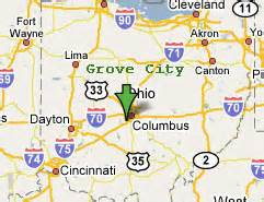 Grove City Ohio Map by Sighting Reports 2006