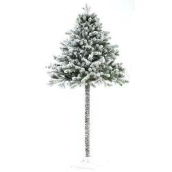 half christmas tree with snow from homebase christmas