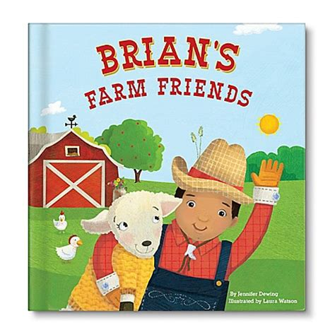 Mainan Edukasi My Farm Board Book personalized children s board book quot my farm friends quot by dewing buybuy baby