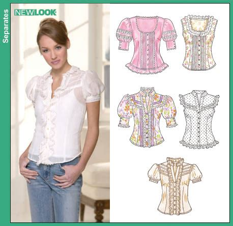 blouse pattern design software new look new look 6599 misses blouses