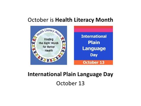 health literacy month one community health literacy month