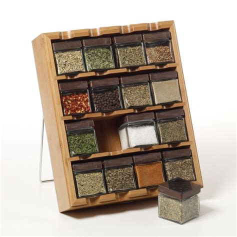 spice rack with spices knowledgebase