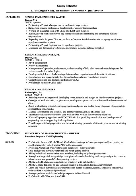 civil engineer resume example resume samples
