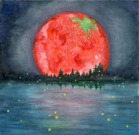 strawberry moon june s full strawberry moon earthmoonandstars