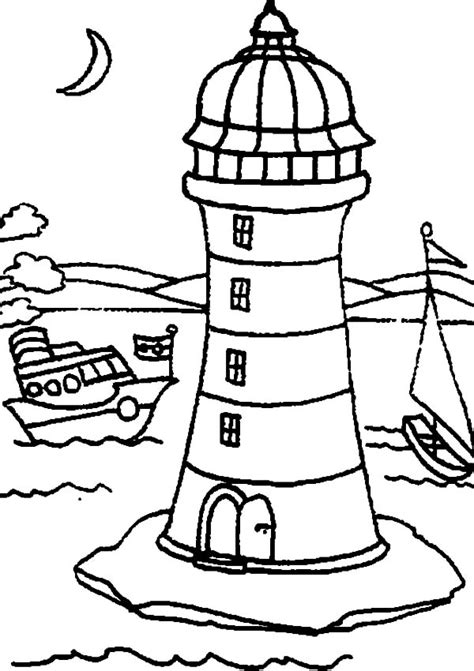 coloring pages lighthouse free printable best coloring books ever lighthouse sketch of colouring page