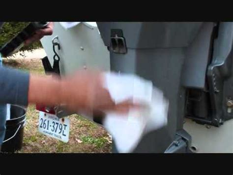 paint boat motor cover outboard motor cowling and seal restoration youtube