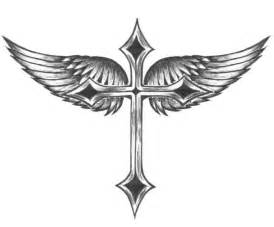 Cross and wings colouring pages page 2