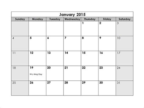 Monthly Schedule Template Excel by Monthly Schedule Template 9 Free Excel Pdf Documents