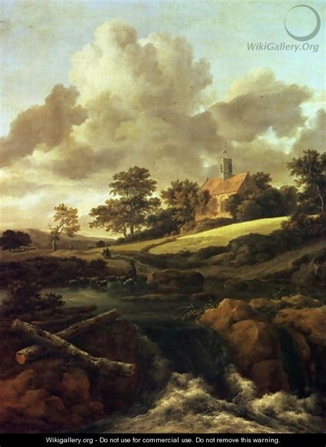 Landscape With A Stream Jacob Van Ruisdael Wikigallery