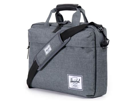 Herschel Macbook Tas herschel clark laptoptas 15inch charcoal crosshatch