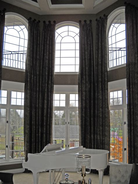 two story curtains two story medallion mounted panels cathy s curtains