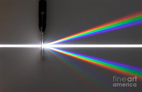diffraction grating pattern white light light dispersed by diffraction grating photograph by