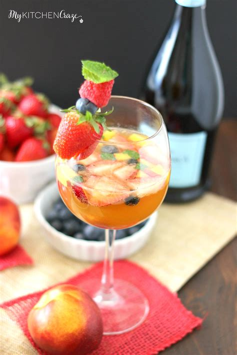 sparkling fruity sangria my kitchen craze