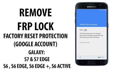 march 2017 bypass frp account lock on galaxy s7 edge s7 s6 edge plus