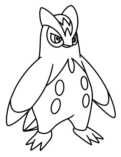 pokemon prinplup coloring pages