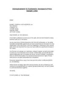 Business Letter Template Price Increase price increase letter to clients archives sample letter