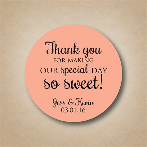 Wedding Favors Stickers by Thank You Stickers Wedding Favor Stickers Special Day So Sweet