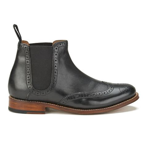 Brogue Chelsea Boots grenson s brogue chelsea boots black free