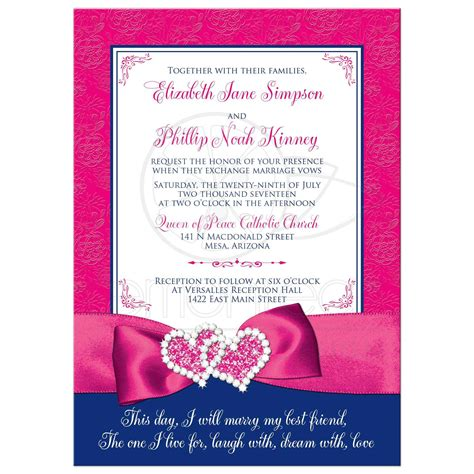 Pink Wedding Invitation Cards by Wedding Invitation Royal Blue Pink White Floral