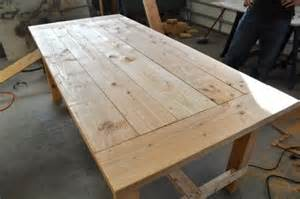 Woodworking Project Plans Coffee Tables by Distressed Farm Table Project How To Build A Farm Table For 100