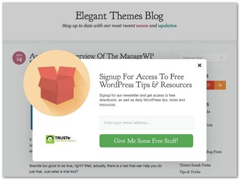 tutorial wordpress newsletter how to create an awesome newsletter signup popup for your