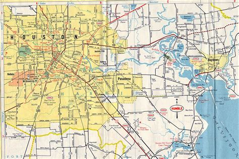 houston texas map downtown houston map of streets