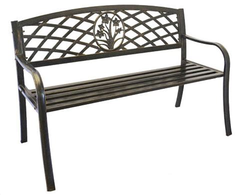 cast iron benches outdoor metal bouquet garden bench cast iron modern outdoor
