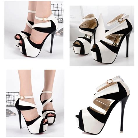 Sepatu Sandal Cewek Wanita Kerja Kuliah Dropship Wedges 2 jual shh1991 white sepatu heels import 14cm grosirimpor