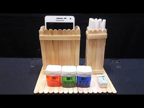 Freezer Tempat Es Krim cara membuat tempat pensil tempat smartphone dari stik