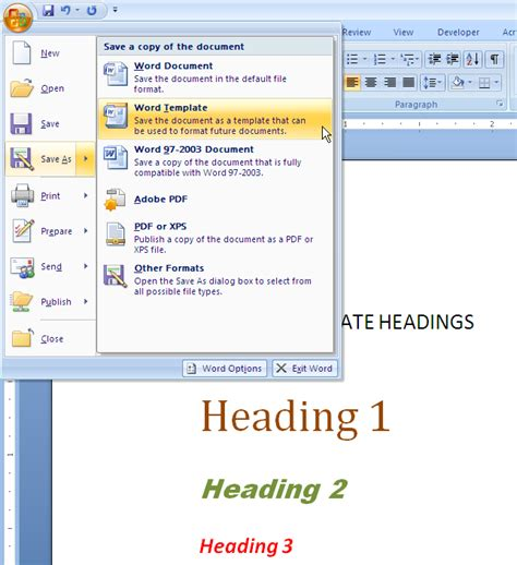How To Switch Templates For A Ms Word 2007 Or Word 2010 Technical Document Technical Microsoft Word 2010 Templates