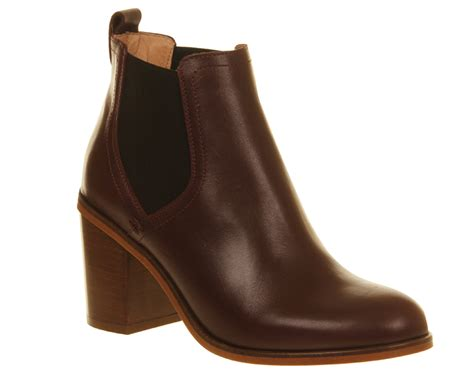 chelsea boot womens womens office clementine chelsea boot burguny leather