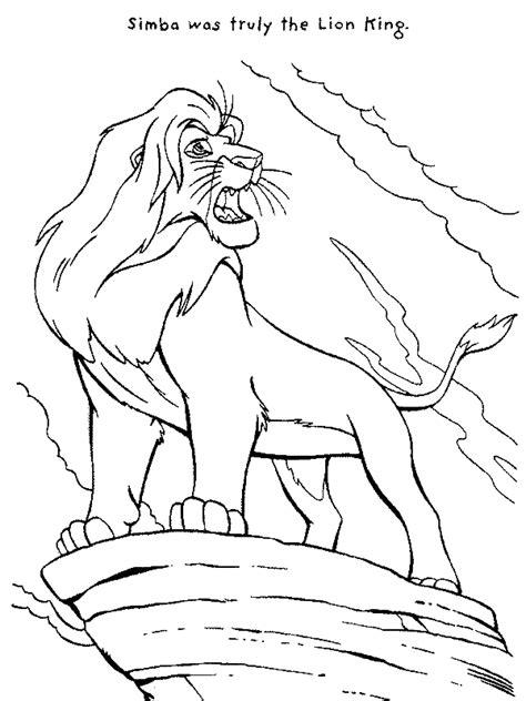 mufasa roar  lion king coloring page  print