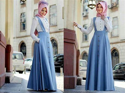 Rok Rok Denim Rok Panjang Rok Muslim Rok Flare Klok setelan busana muslim atasan rok denim cantik terbaru