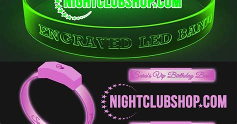 "NightclubShop: CUSTOM ""LED WRISTBANDS"" Optical Engraved With Name/Logo   Order as little as 100"