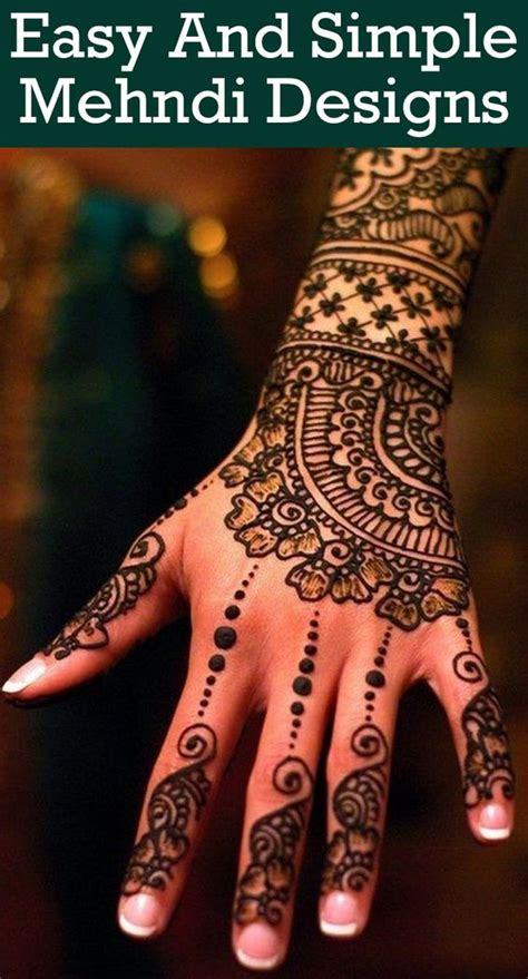 easy way tattoo yourself 28 easy and simple mehndi designs that you can do by