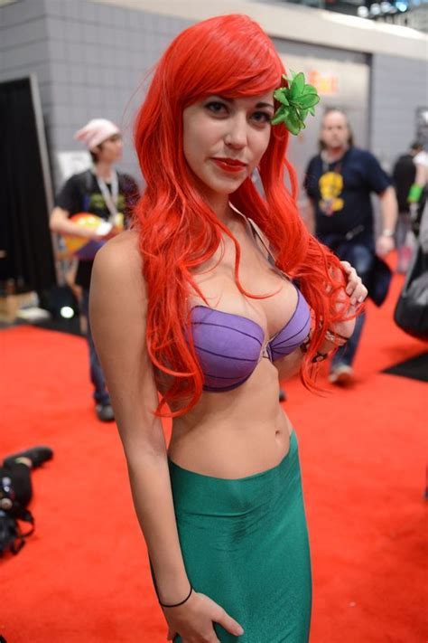 Sexy Ariel from The Little Mermaid redhead cosplay babe