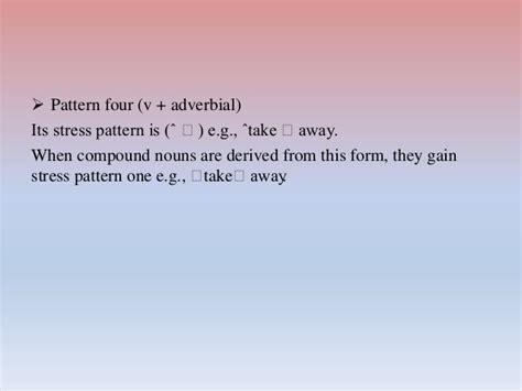 stress pattern english language systematic competence of english language