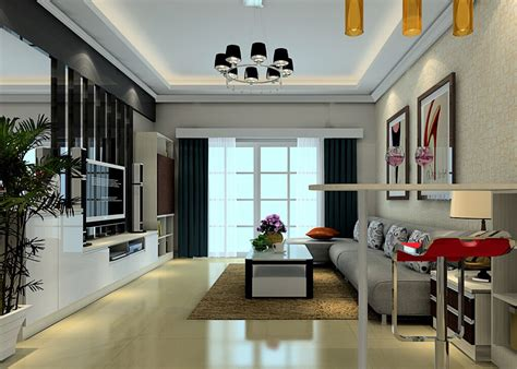 3d interior living room with small bar counter 3d house living room bar counter and highchairs
