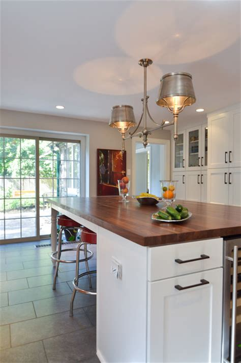Houzz Kitchen Stools by Large Kitchen Island With Retro Stools Transitional
