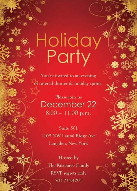 6 free holiday party invitation templates word actor resumed