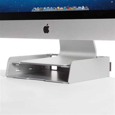 secure imac to desk apple imac freestanding sit stand workplace partners