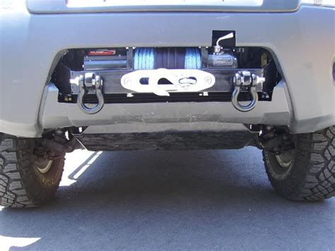 nissan xterra front bumper winch in stock bumper on xterra nissan frontier nismo