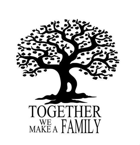 printable family tree silhouette family tree svg eps png dxf digital download files for