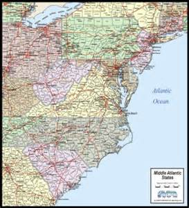 Mid Atlantic States Map by Download Mid Atlantic States Map To Print