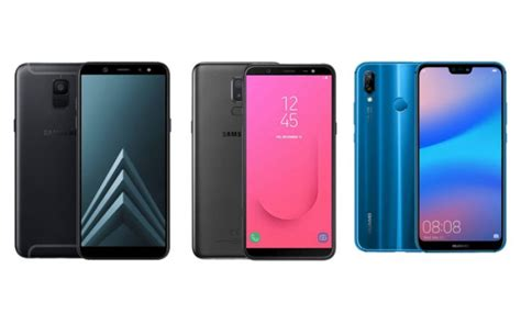 samsung galaxy a6 vs samsung galaxy j8 vs huawei p20 lite