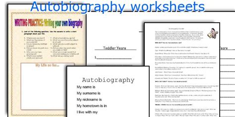 short biography exercises english teaching worksheets autobiography