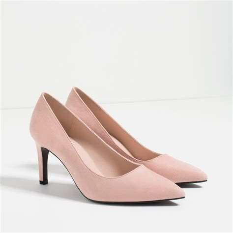 zara shoes zara high heel shoes in pink lyst