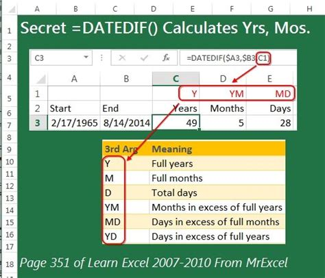 calculate years 17 best images about amazing excel tricks on gosling mortgage