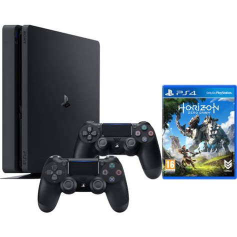 Playstation 4 Ps4 Slim 500gb Dualshock 4 sony playstation 4 slim 500gb console includes horizon zero dualshock 4 controller